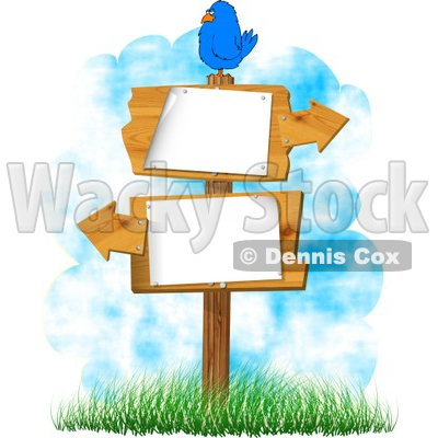 Cartoojn Pointing Direction Sign Clipart.
