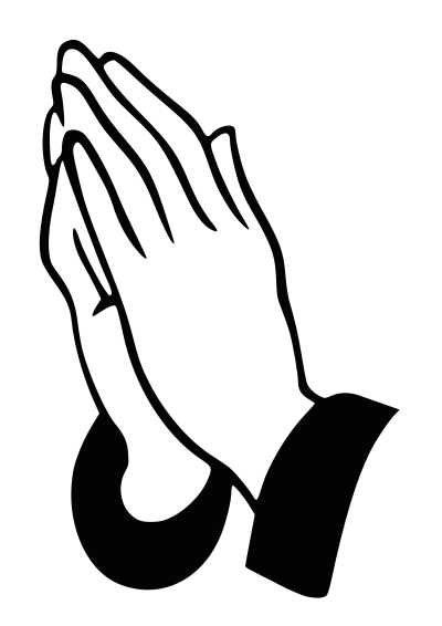 Children Praying Hands Clipart.