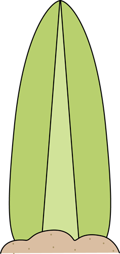Green Surfboard in the Sand Clip Art.
