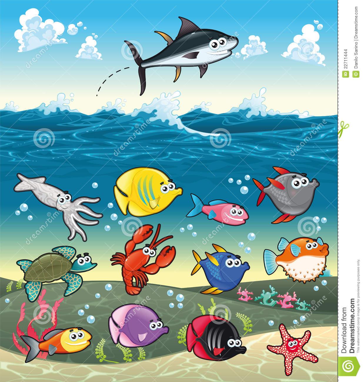 Fish In The Sea Clipart.