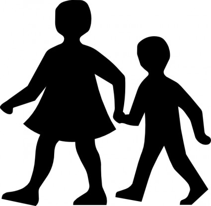 Shadow people clipart.