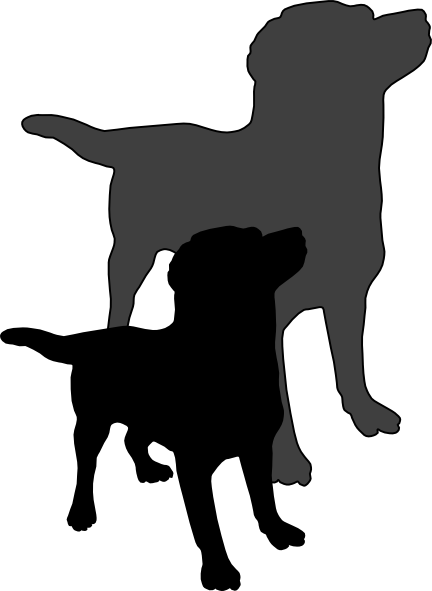 Dog shadow clipart.