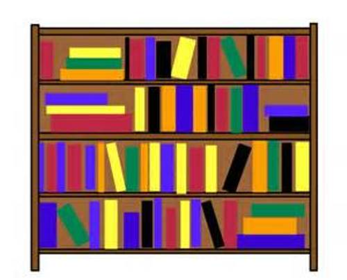 Books On Shelf Clipart.