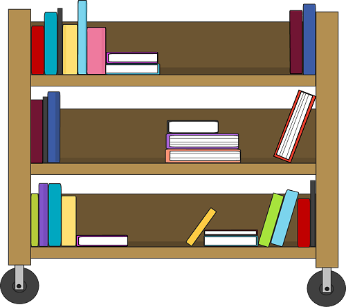Library shelf clipart.
