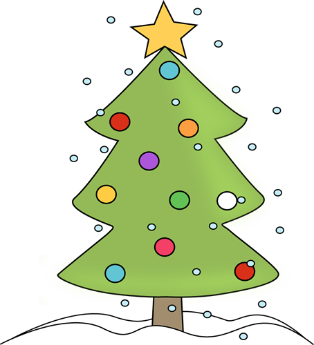 Christmas Tree in the Snow Clip Art.