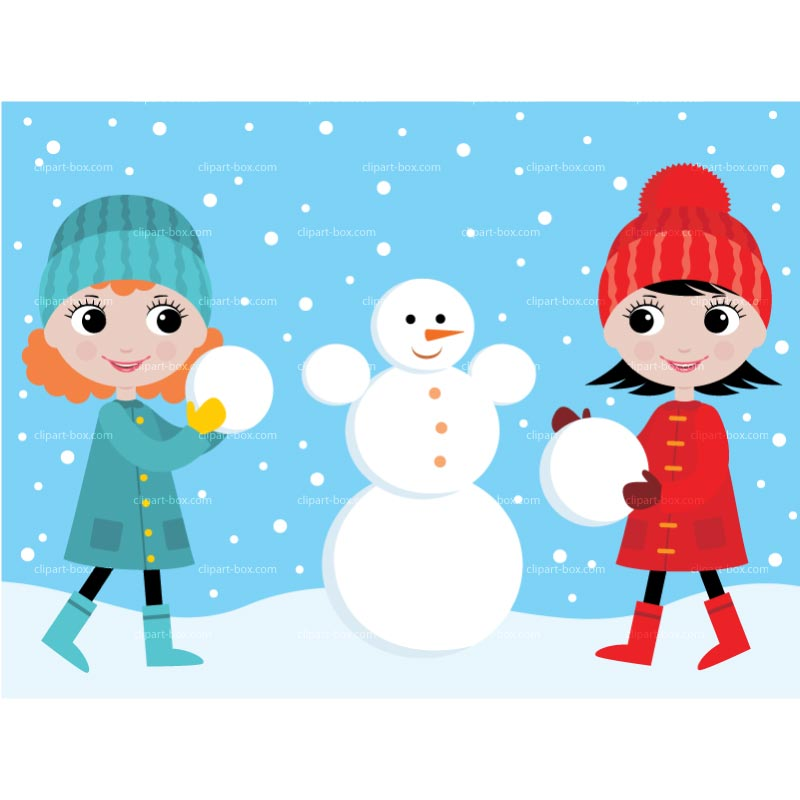 In the snow clipart #12