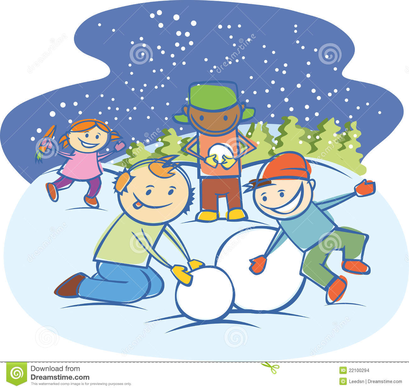 In the snow clipart #20