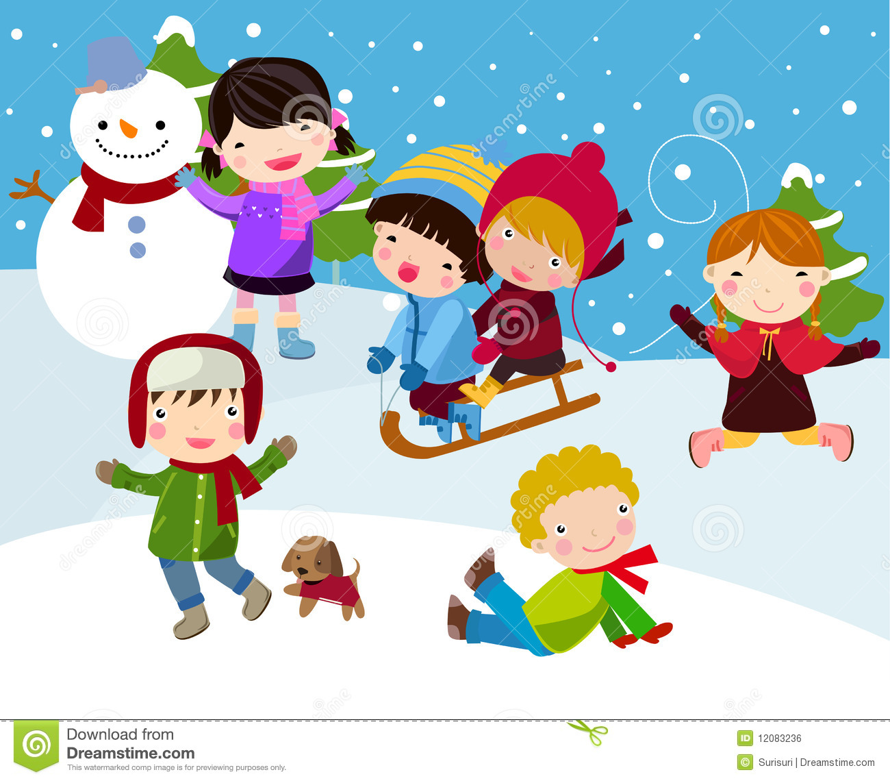 In the snow clipart - Clipground
