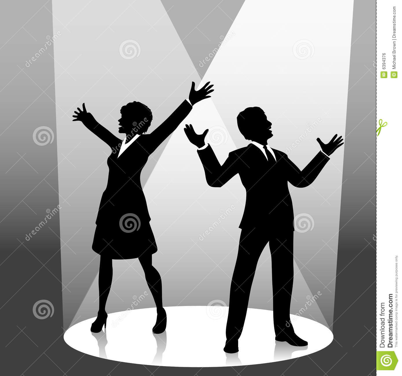 Business People In Spotlight Royalty Free Stock Image.