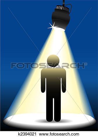 Clipart of Symbol person on stage in the spotlight k2394021.