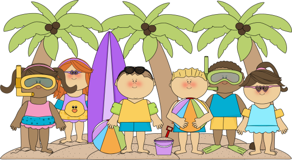Summer Kids Clip Art.