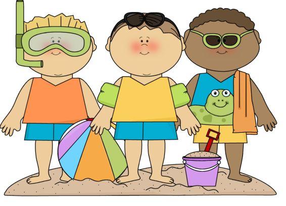 Summer clipart kids.