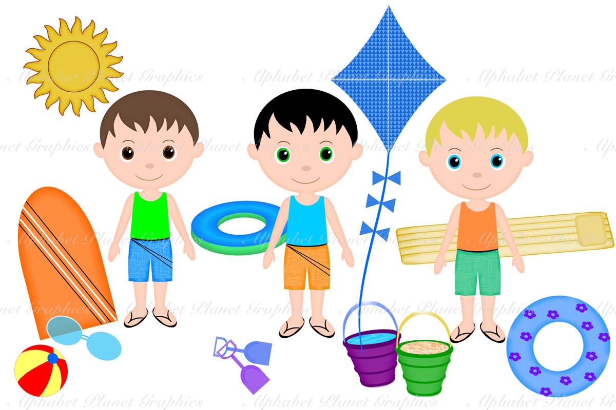 Kids Summer Clothes Clipart.