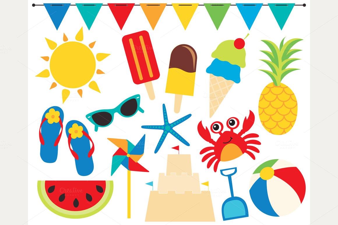 Fun Summer Time Clipart.