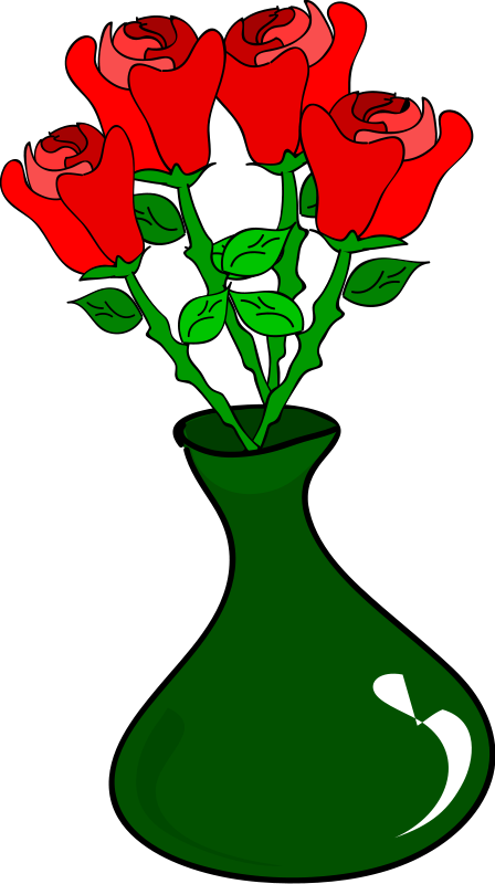 Flowers In A Vase Clipart.
