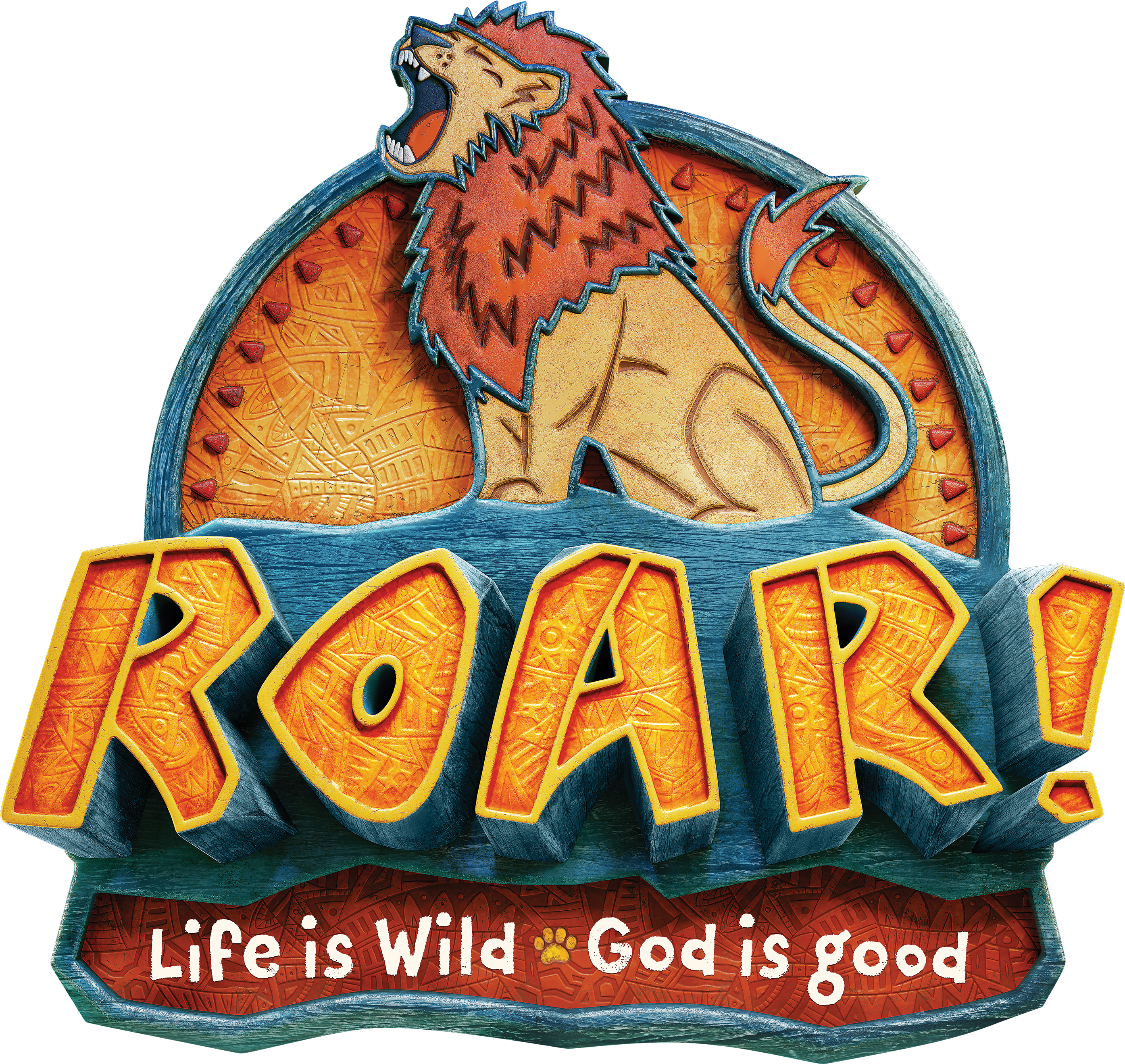 Download the Roar VBS logo pack here! #roarvbs #groupvbs.