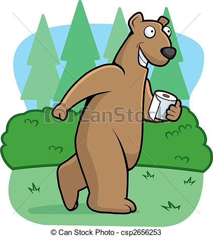 Bear in the Woods Clip Art.