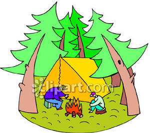 Camping In The Woods Clipart.