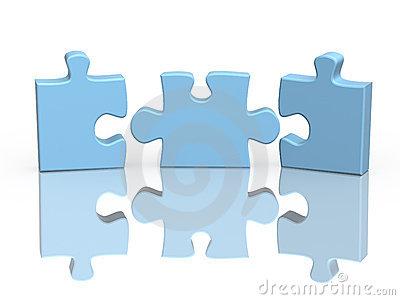 Three Parts Puzzle Stock Illustrations.