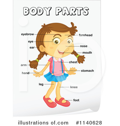 3 parts of a body of a paragraph clipart.