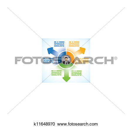 Clipart of Three parts presentation template k11648970.