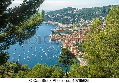 Stock Photos of Bay of Villefranche.