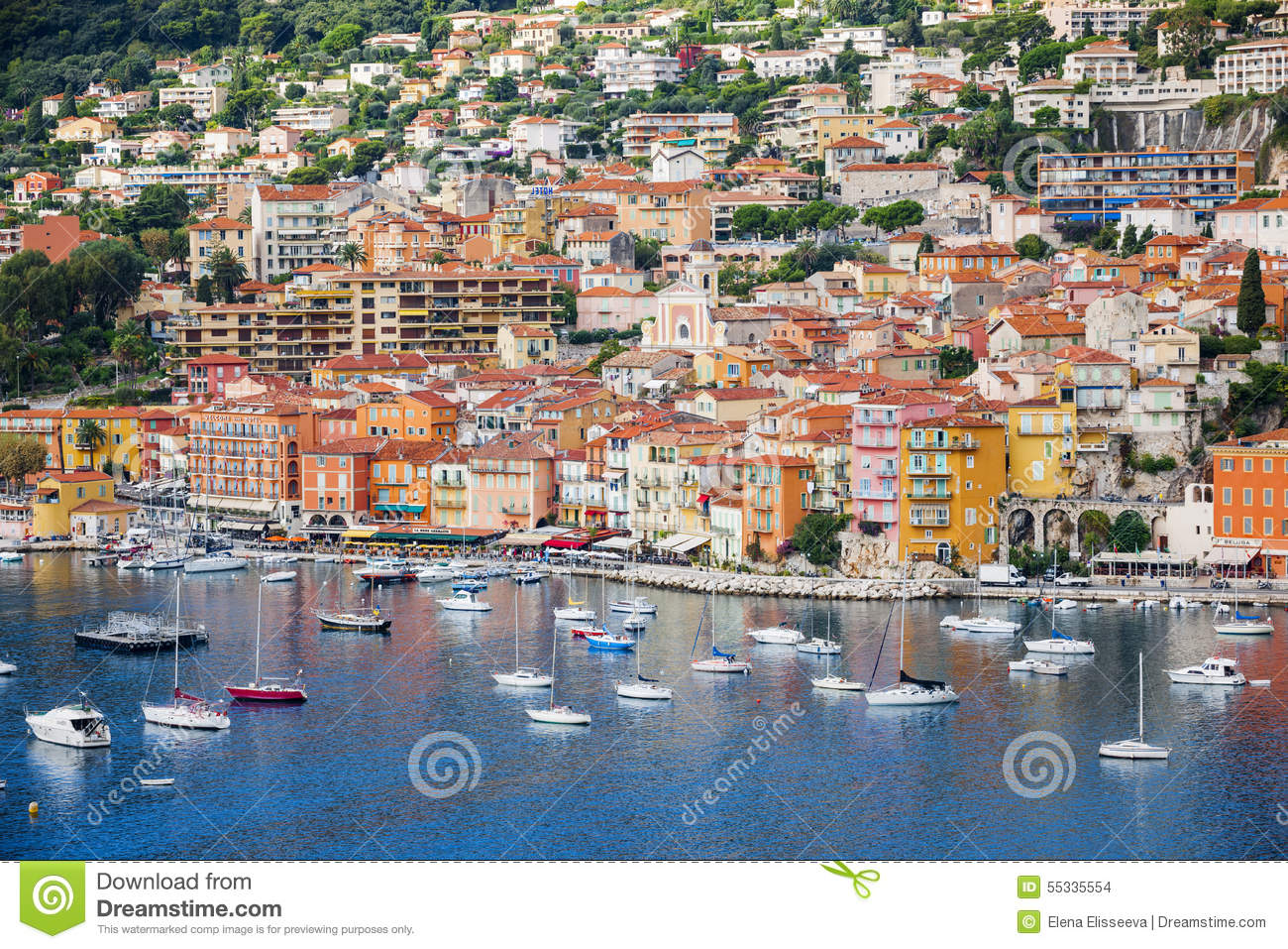 Old Town In Villefranche.