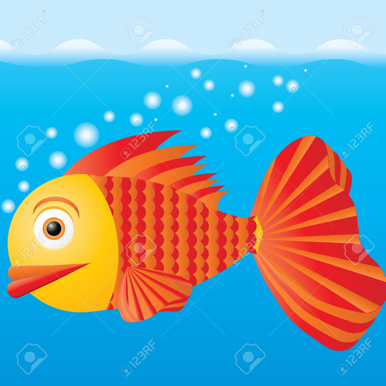 Water fish clipart.