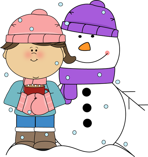 In the snow clipart #2