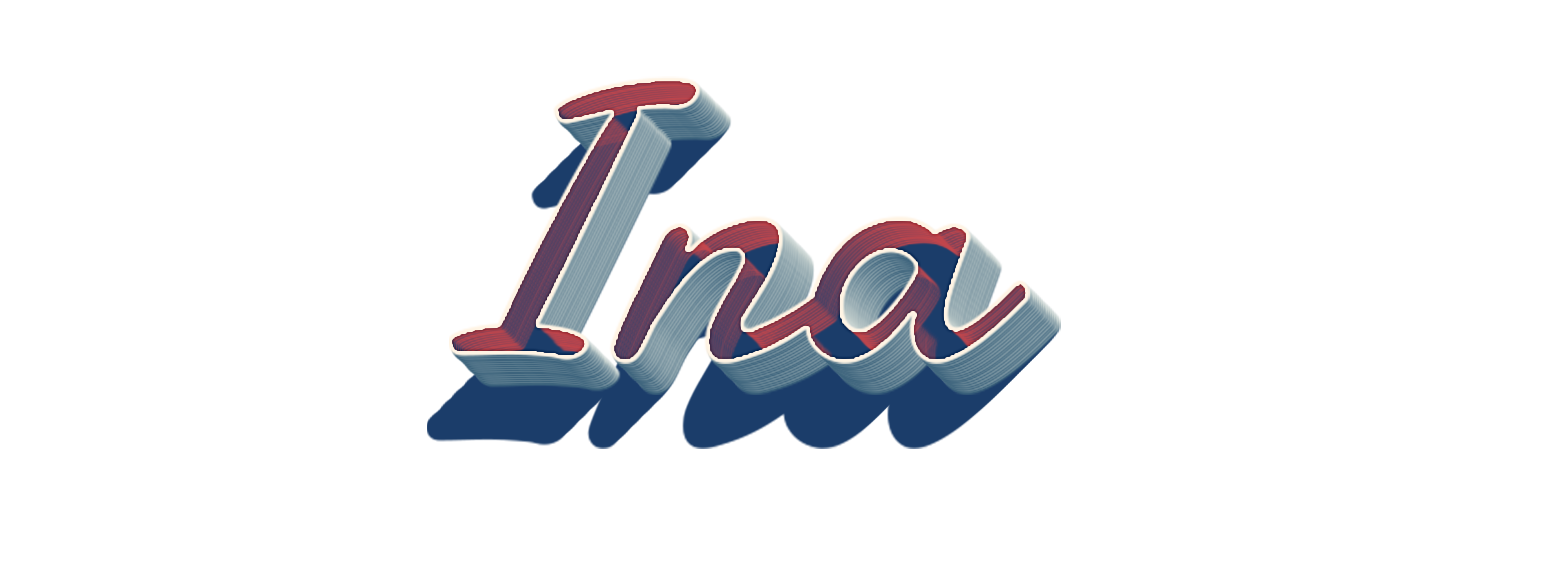 Ina 3D Letter PNG Name.