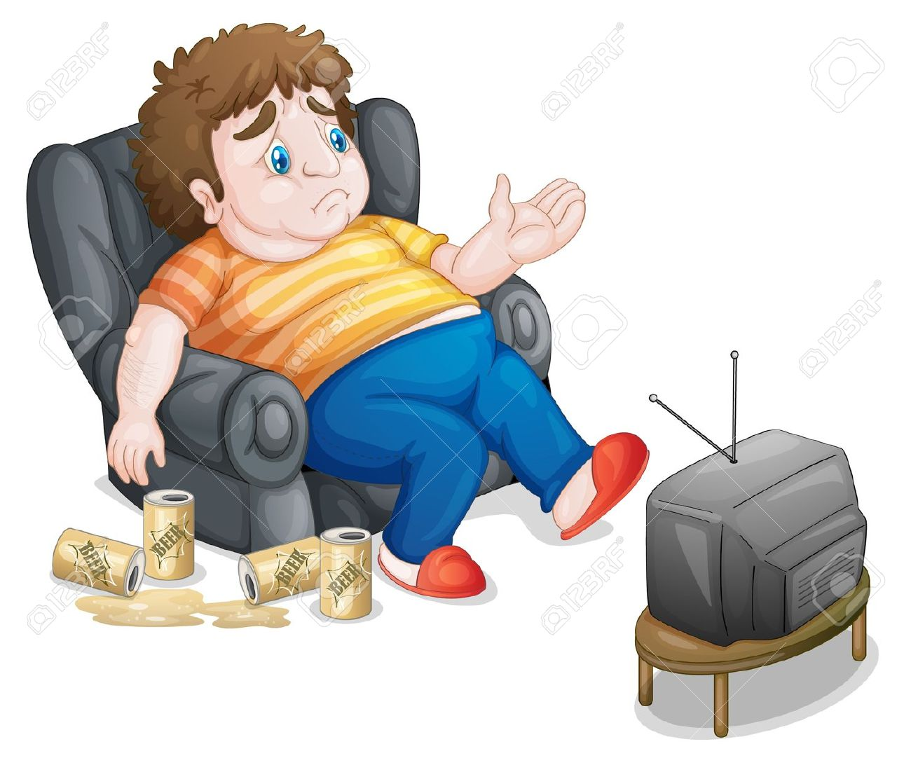 Sedentary Lifestyle: Inactive Clipart