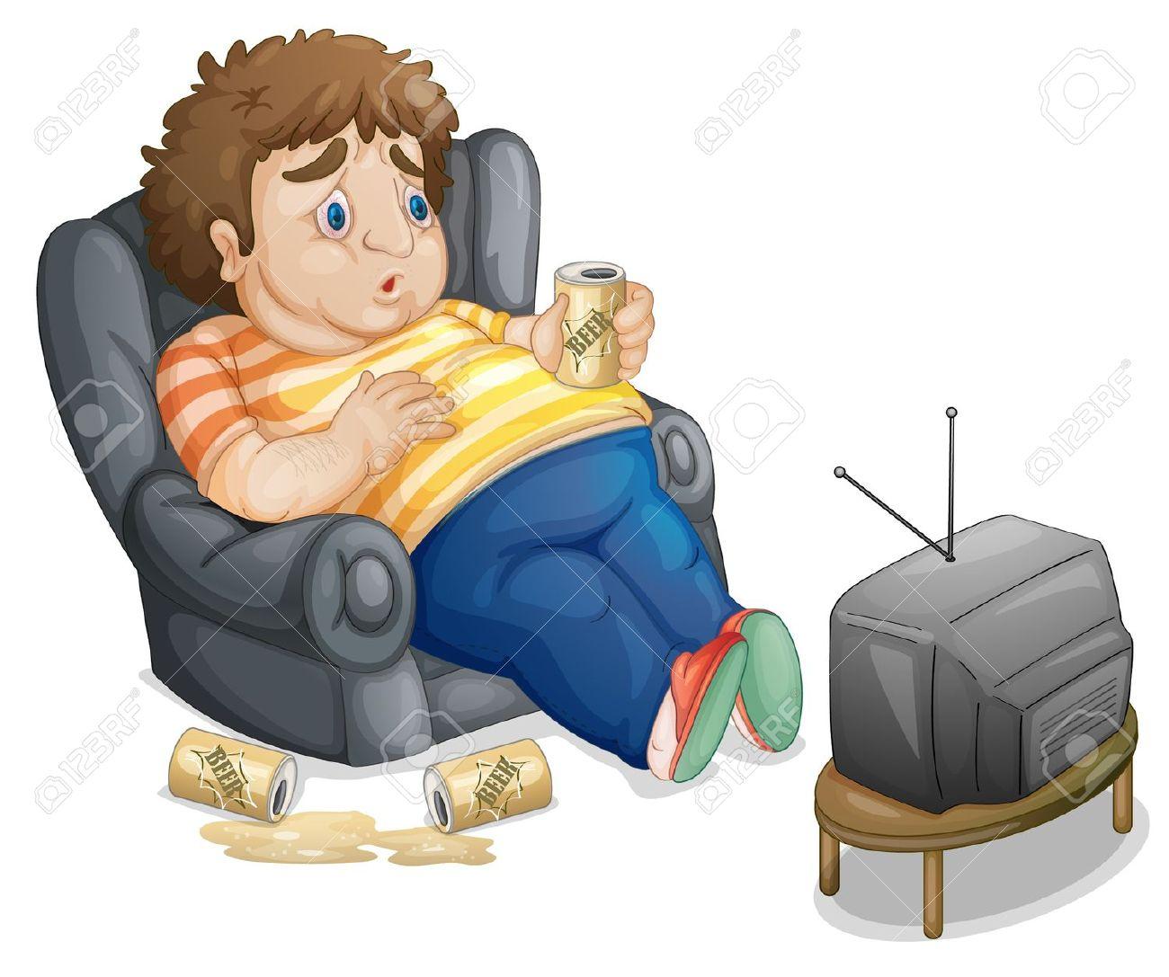 Obese Couch Potato Inactive clipart - Cli...