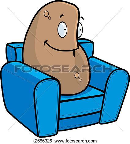 Clipart of couch potato vmo0131.