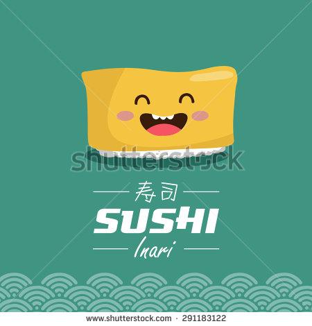 Inari Sushi Stock Vectors & Vector Clip Art.