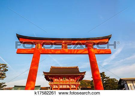 Stock Photography of Fushimi Inari Shrine k17582261.
