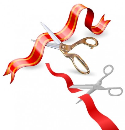 Inauguration ribbon clipart.