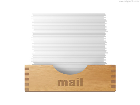 Inbox and outbox icons (PSD), Vectors.