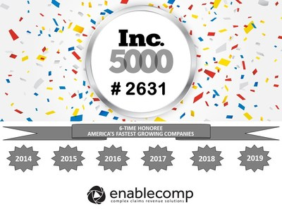 For the 6th Consecutive Time, EnableComp Appears on the Inc.