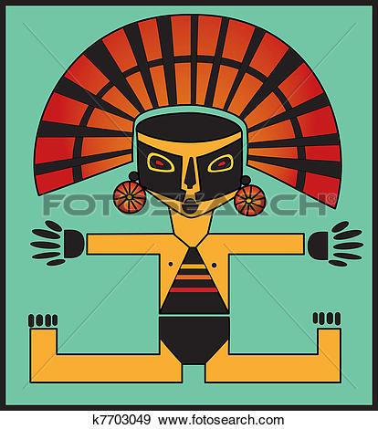 Clip Art of Inca k7703049.
