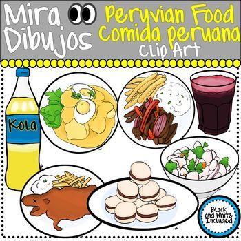 Peruvian Food Clip Art Comida Peruana.