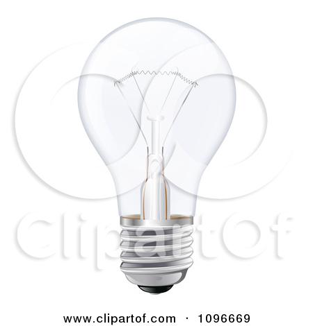 Clipart 3d Incandescent Light Bulb.