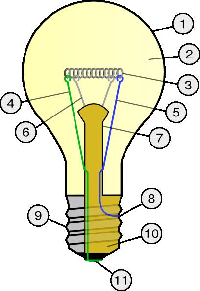 Incandescent Light Bulb clip art Free Vector / 4Vector.