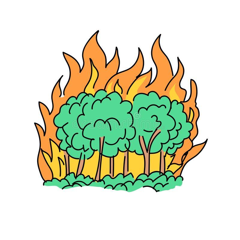 Download dibujo de un incendio forestal clipart Wildfire Clip art.
