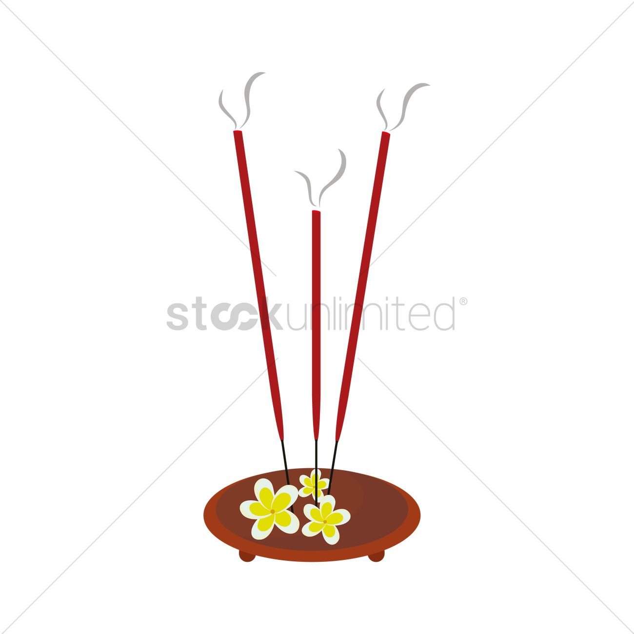 Incense sticks and stand Vector Image.