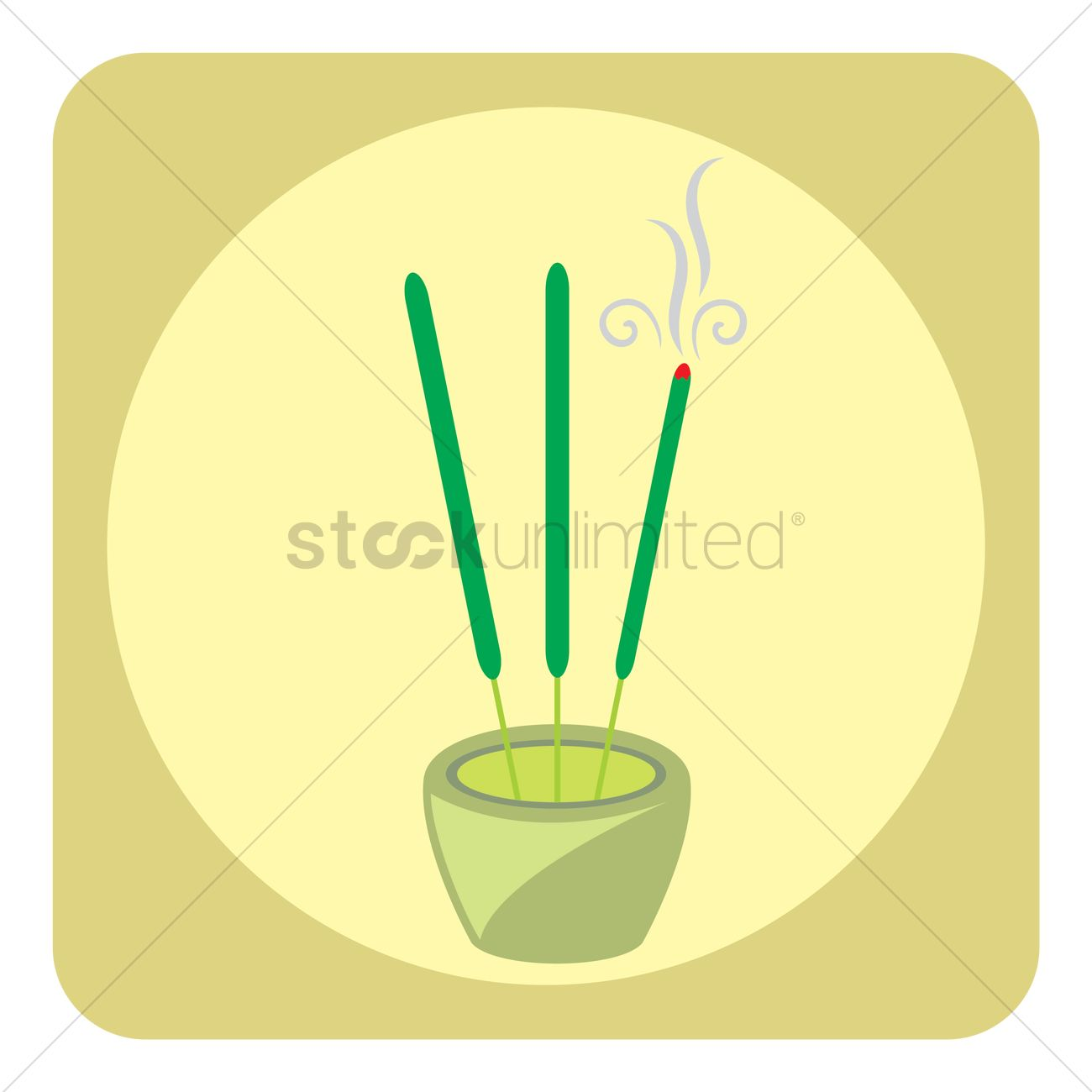 Incense stick Vector Image.