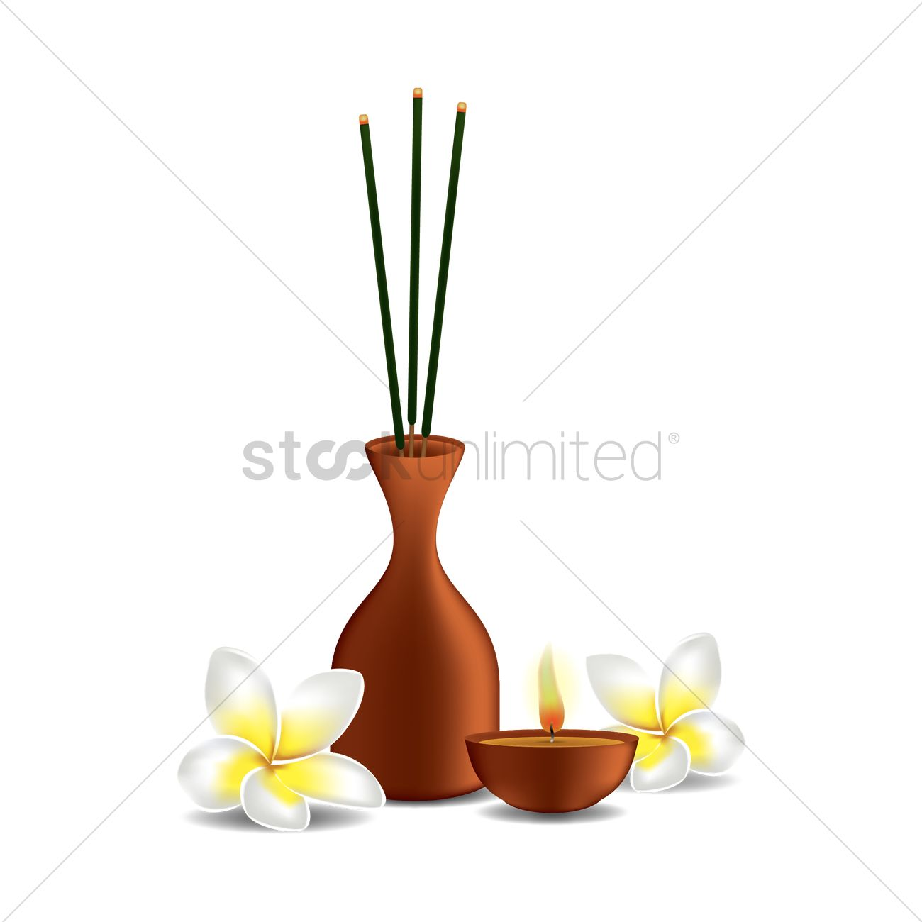 Incense sticks Vector Image.