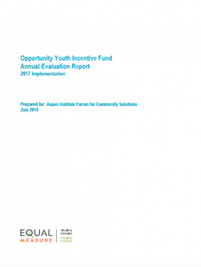 Opportunity Youth Incentive Fund Annual Evaluation Report Year 3.