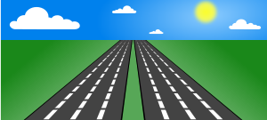 Smooth road clipart.