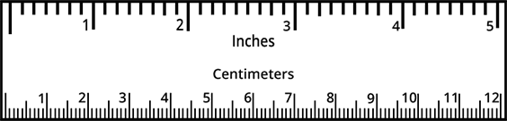 Centimeter and inches ruler clipart images gallery for free download.
