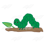 Inchworm Black And White Clipart.